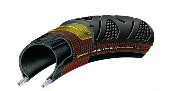 Continental Grand Prix 4-Season dæk 25-622 foldbar sort/gennemsigtig sort
